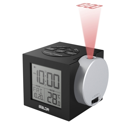 COLORFUL BACKLIGHT PROJECTION ALARM CLOCK