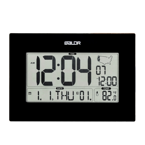 BIG DIGITS LIVING ROOM ATOMIC ALARM CLOCK WITH CALENDAR(USA version)