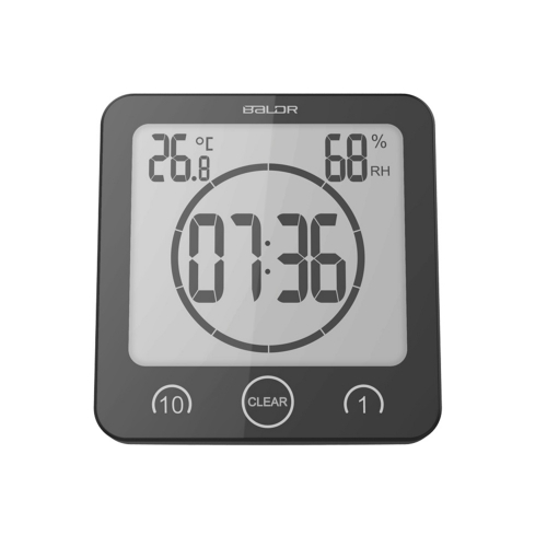 WATERPROOF SHOWER CLOCK WITH TIMER FUNCTION