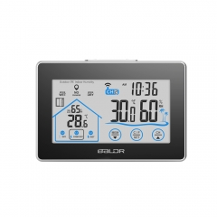 TOUCH SCREEN LCD  WIRELESS  WEATHER STATION