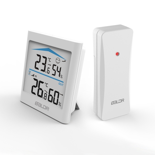 INDOOR/OUTDOOR THERMOHYGROMETER WITH BACKLIGHT