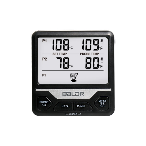 Digital Cooking Oven Thermometer With Dual Probes